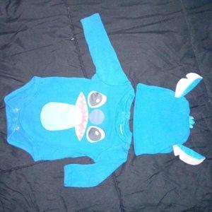 Stitch onesie and hat disney baby